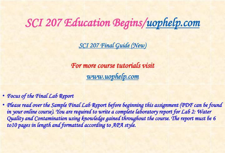 Sci 207 education begins uophelp com2