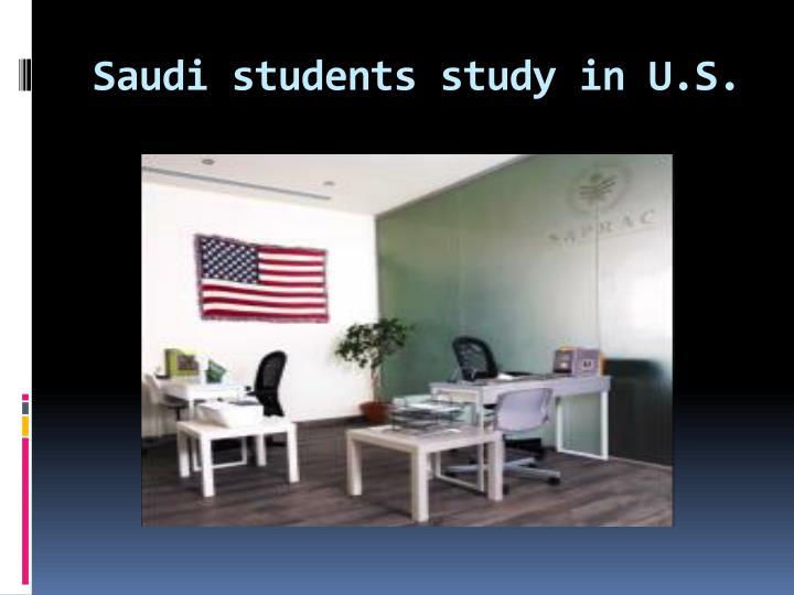 Saudi students study in u s