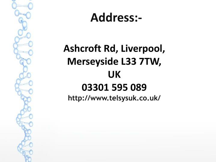 Ashcroft Rd, Liverpool, Merseyside L33 7TW, UK