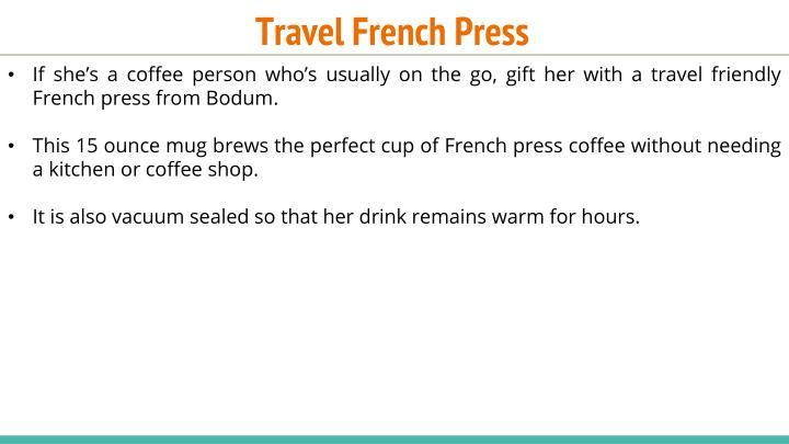 Travel French Press