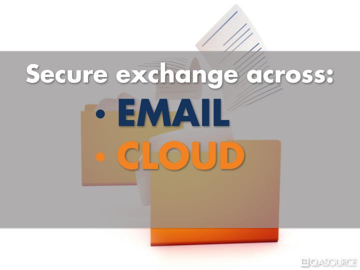 Secure exchange across: