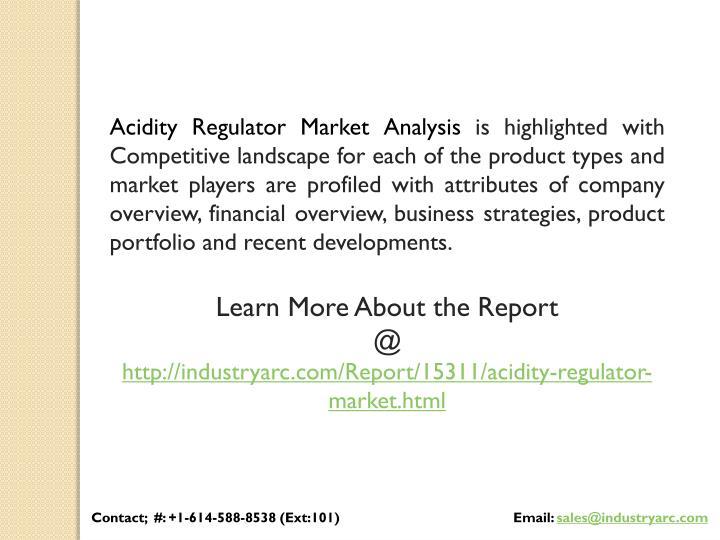 Acidity Regulator Market