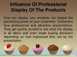 influence of professional display of the products