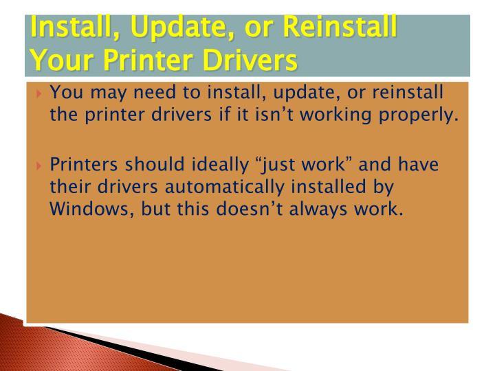 Install, Update, or Reinstall