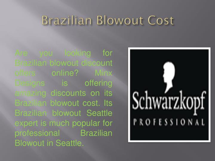 Brazilian blowout cost