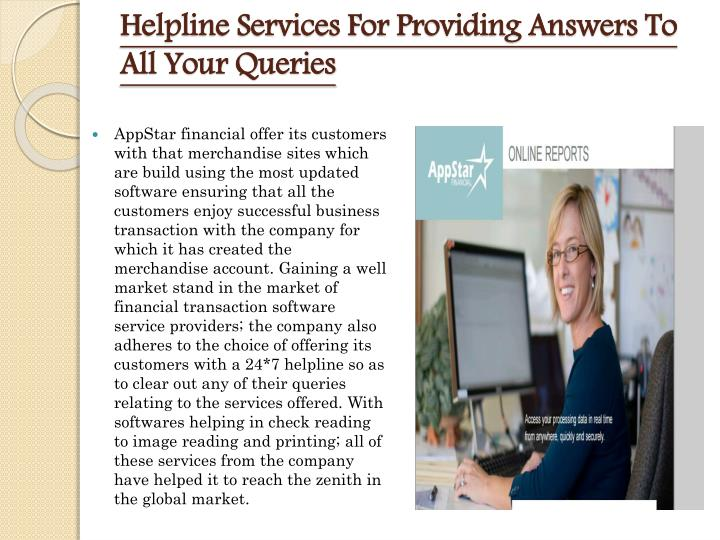 Helpline Services For Providing Answers To All Your Queries