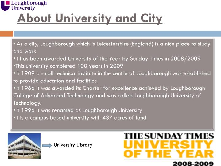 About university and city