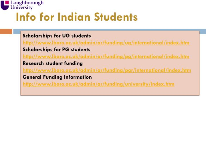 Info for Indian Students