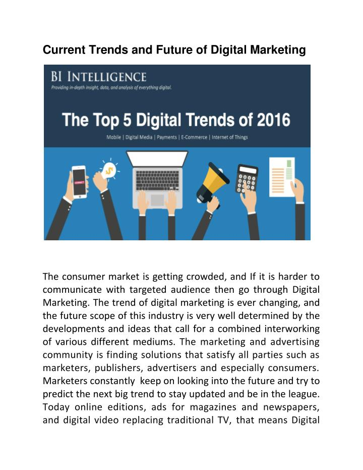 current and future market trends essay