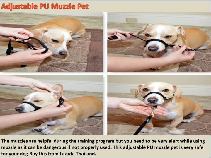 Adjustable PU Muzzle Pet