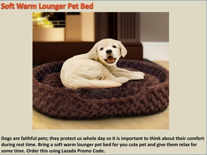 Soft Warm Lounger Pet Bed