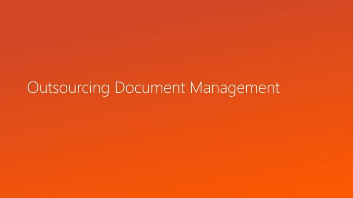 outsourcing document management n.