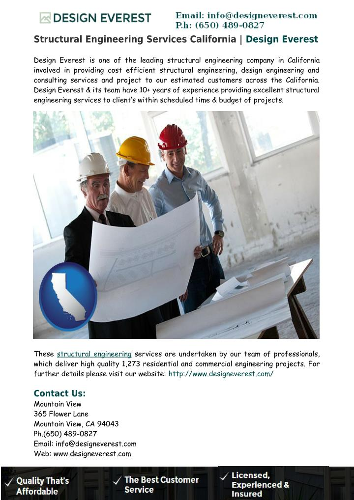 Structural Engineering Services California | Design Everest