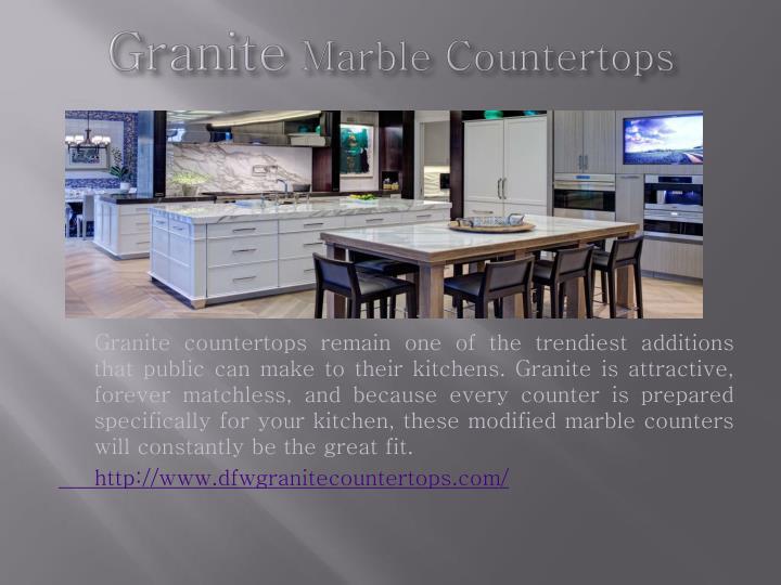 Granite marble countertops
