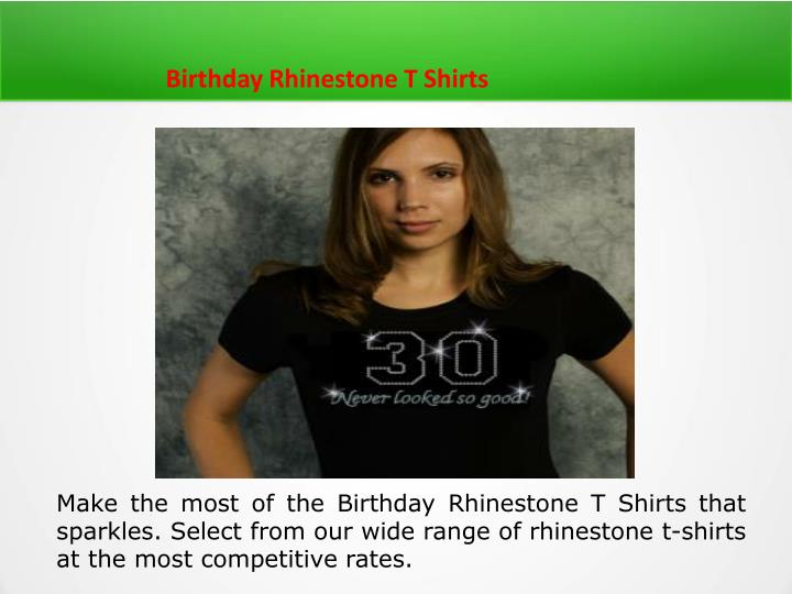 Birthday Rhinestone T Shirts