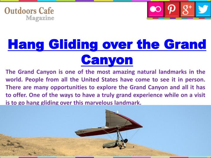 Hang Gliding over the Grand Canyon