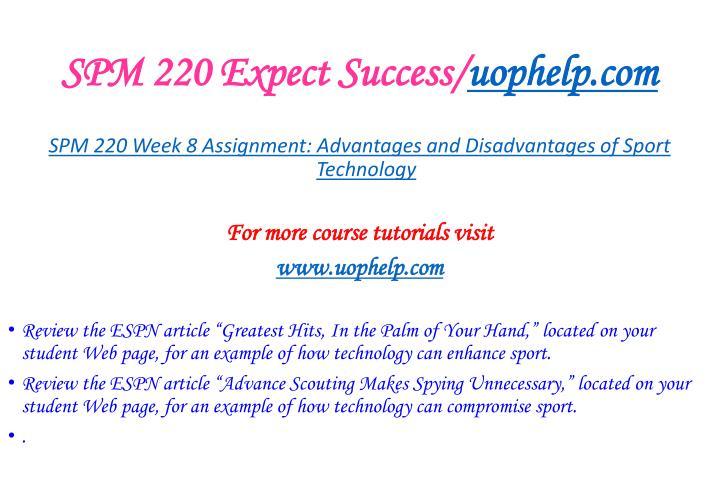 SPM 220 Expect Success/