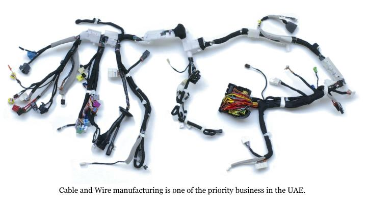 Cable and Wire manufacturing is one of the priority business in the UAE.
