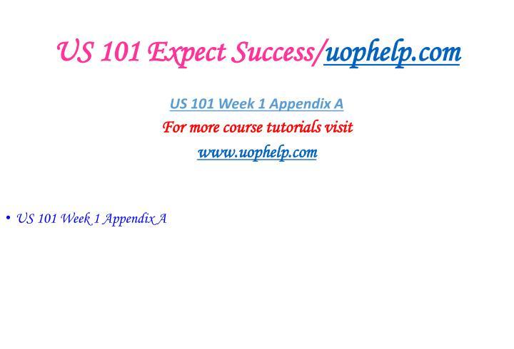 Us 101 expect success uophelp com2