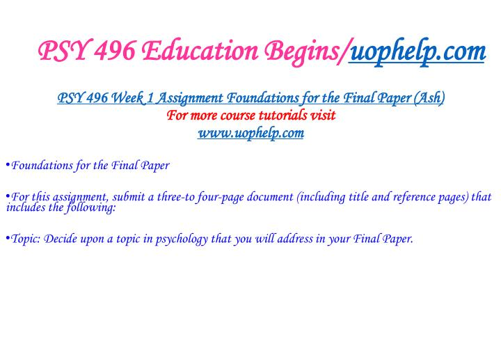 Psy 496 education begins uophelp com2