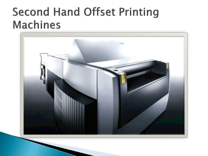 Second hand offset printing machines