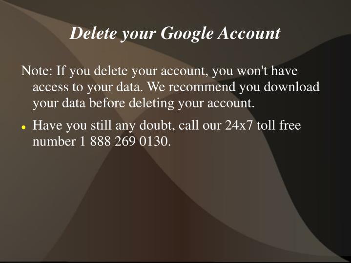 Delete your google account1