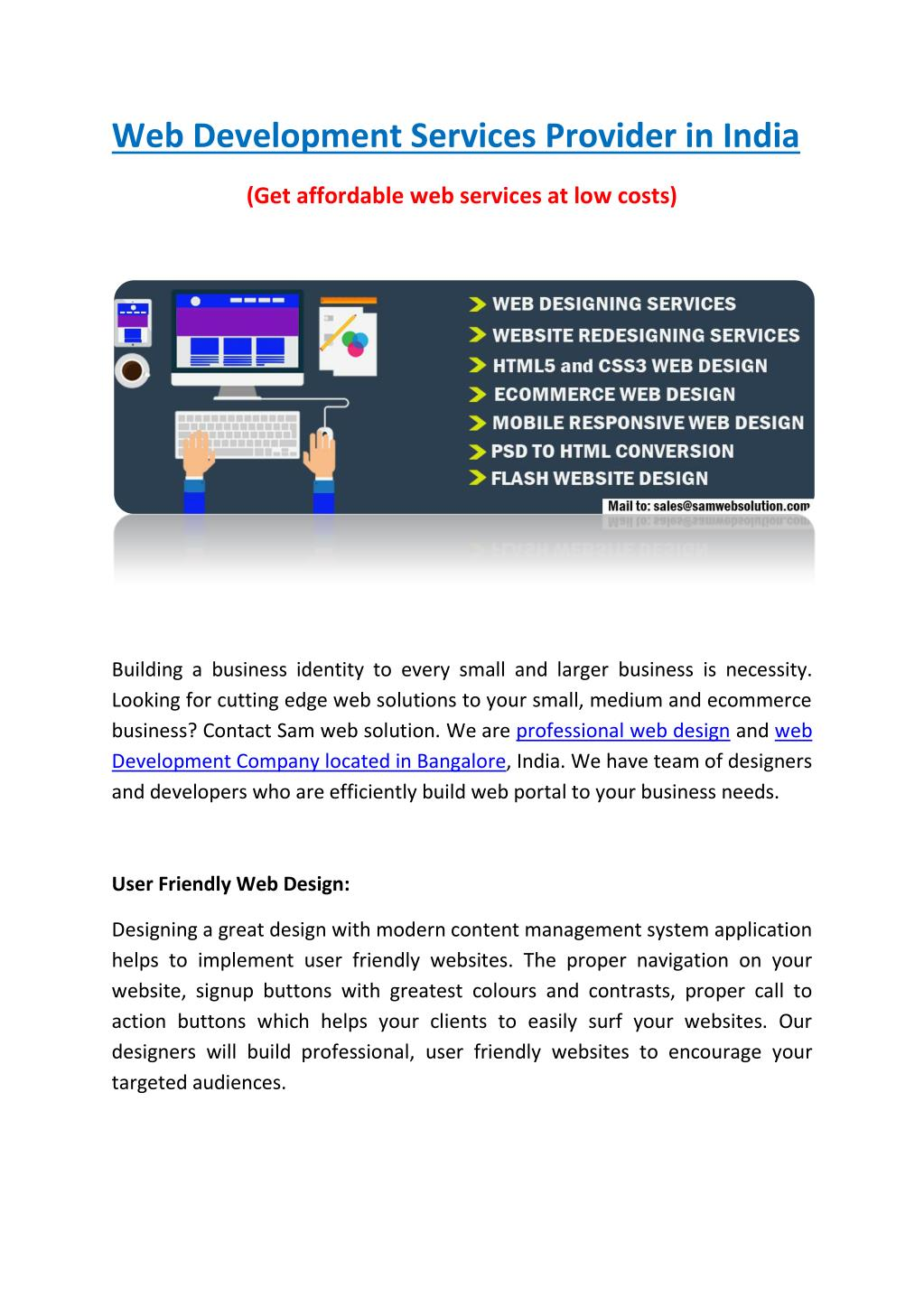PPT - Web Development Services Provider in India PowerPoint