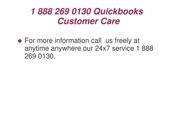 1 888 269 0130 Quickbooks Customer Care