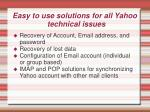 easy to use solutions for all yahoo technical issues