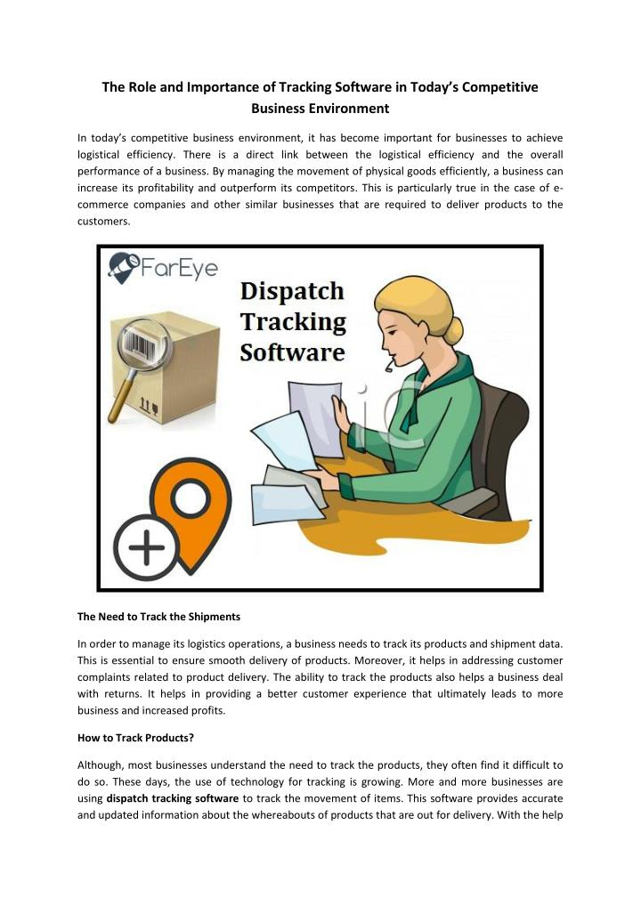 The Role and Importance of Tracking Software in Today's Competitive