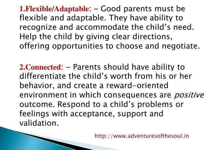 1.Flexible/Adaptable