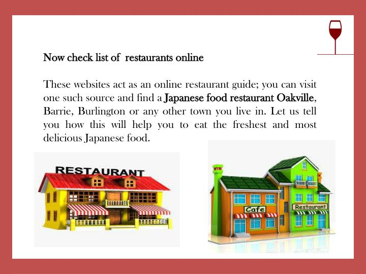 Now check list of  restaurants online