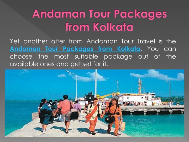 Andaman Tour Packages from Kolkata