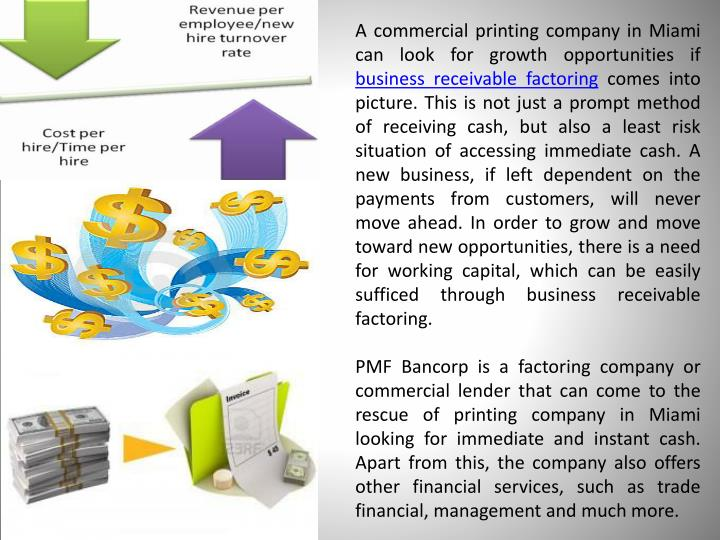 A commercial printing company in Miami can look for growth opportunities if