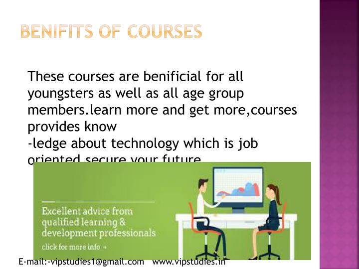 Benifits of courses