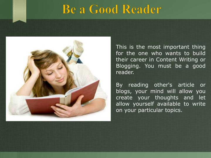 Be a Good Reader
