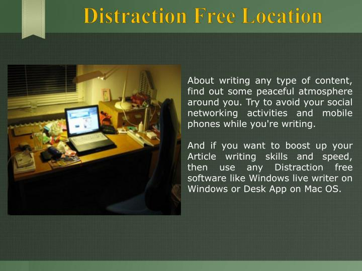 Distraction Free Location