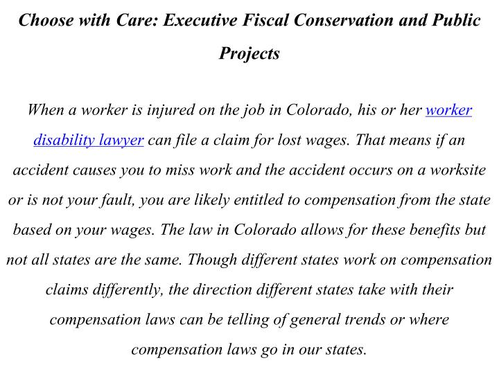 Choose with Care: Executive Fiscal Conservation and Public Projects