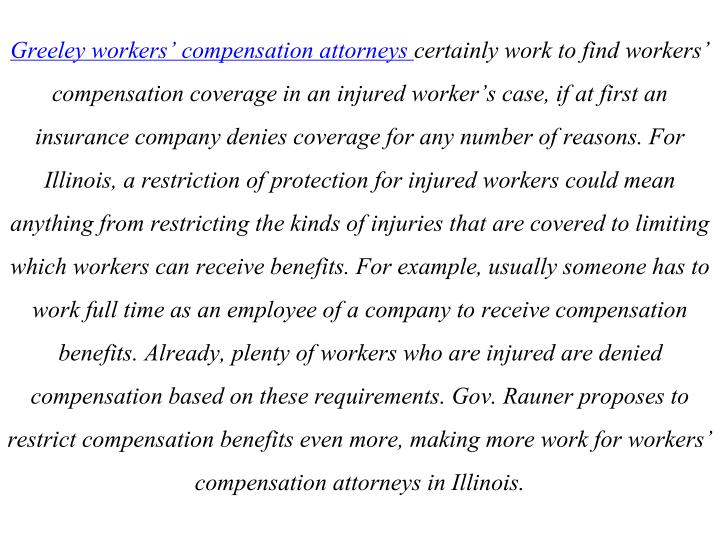 Greeley workers' compensation attorneys