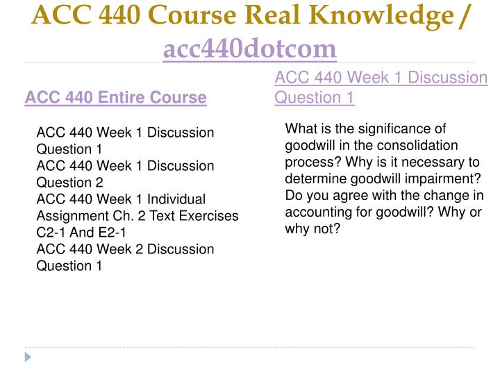 Acc 440 course real knowledge acc440dotcom1