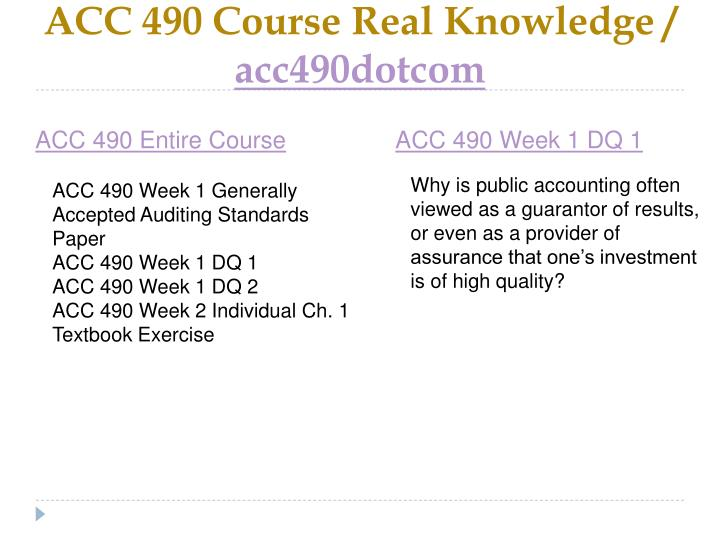 Acc 490 course real knowledge acc490dotcom1