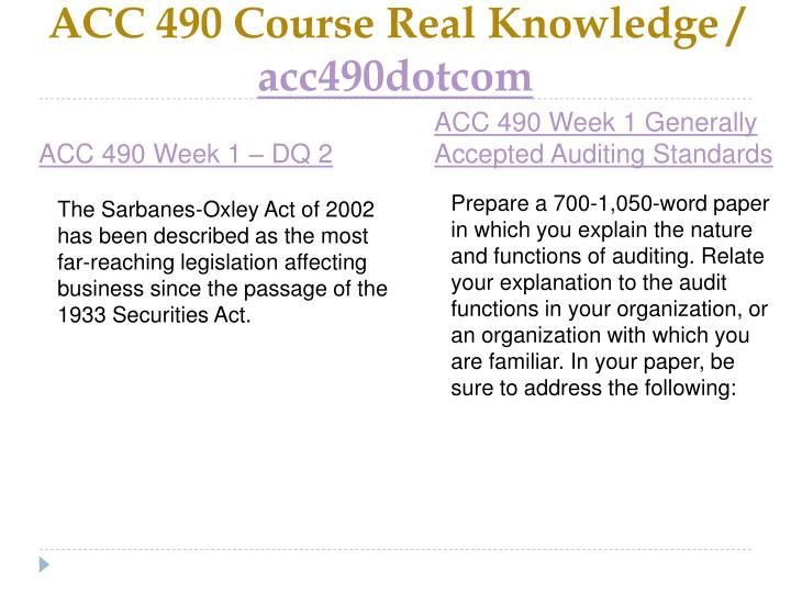 Acc 490 course real knowledge acc490dotcom2