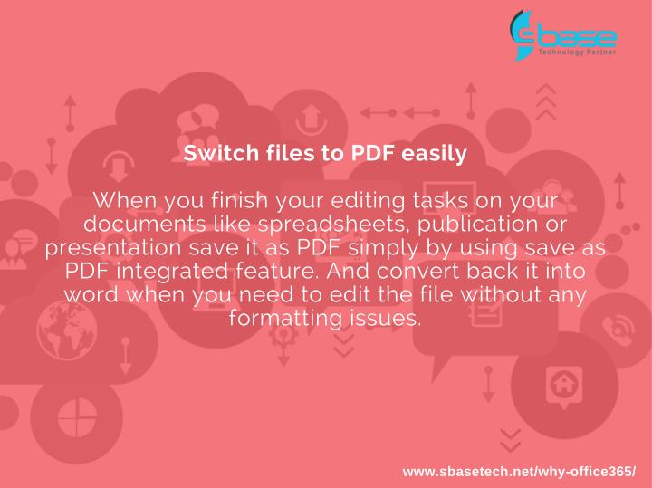 Switch files to PDF easily