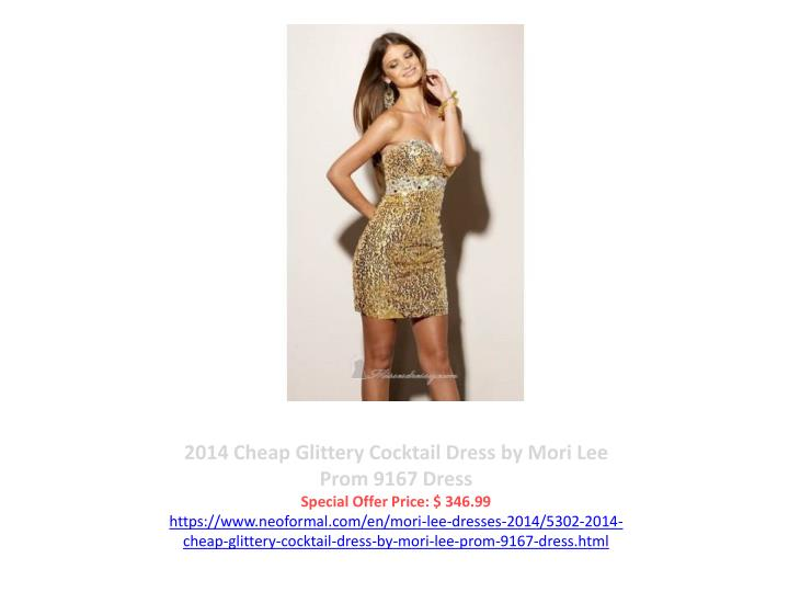 2014 Cheap Glittery Cocktail Dress by Mori Lee Prom 9167 Dress