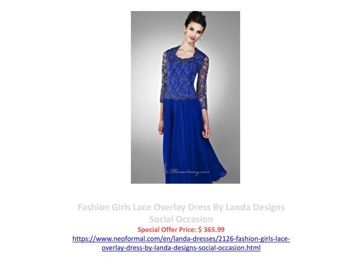 Fashion Girls Lace Overlay Dress By Landa Designs Social Occasion
