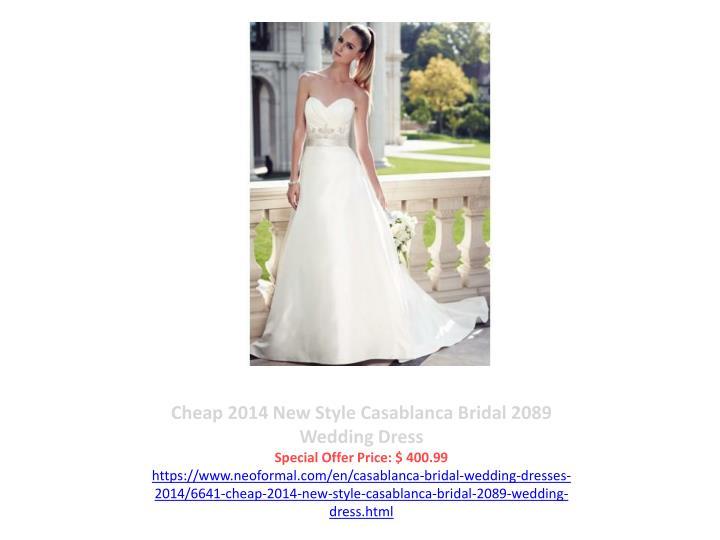 Cheap 2014 New Style Casablanca Bridal 2089 Wedding Dress