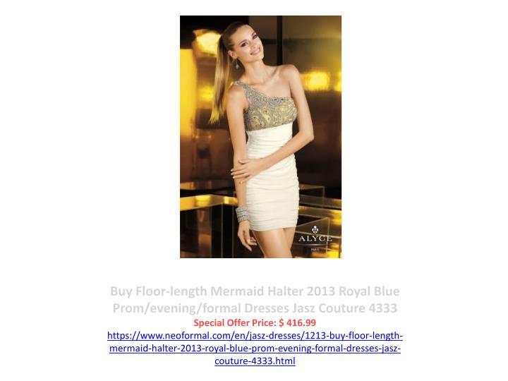 Buy Floor-length Mermaid Halter 2013 Royal Blue Prom/evening/formal Dresses Jasz Couture 4333