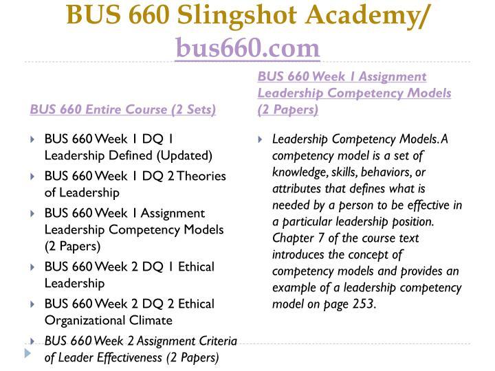 Bus 660 slingshot academy bus660 com1