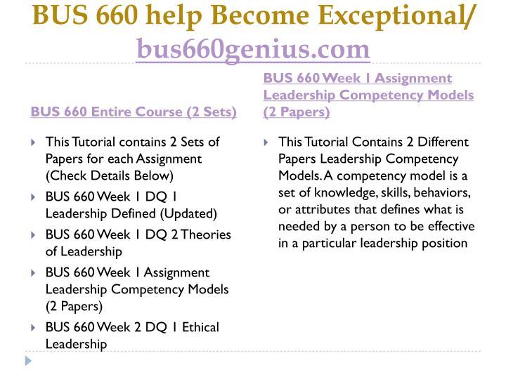 Bus 660 help become exceptional bus660genius com1