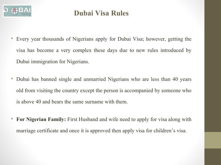 Dubai Visa Rules